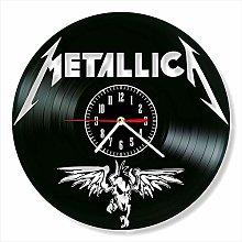 YYIFAN Wall Clock Vinyl Record Clock Metallica