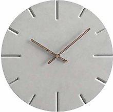 YYJYSM Minimalist Atmosphere Mute Wall Clock Clock