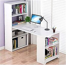 Yyl L Shape Office Computer Desk with Bookcase