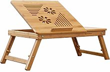 YYLNB Laptop lap Bed Table Tray Foldable Bamboo