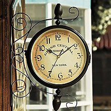 YYMM Outdoor Wall Hanging Clock, 360-Degree