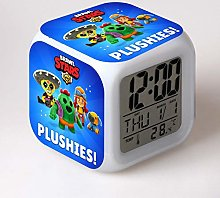 Yyoutop Alarm clock change color printing cute