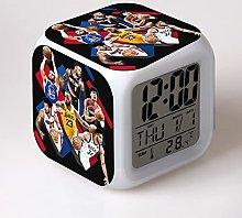 Yyoutop Cartoon alarm clock LED colorful luminous