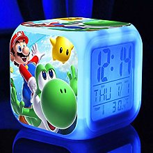 Yyoutop Cartoon digital clock wake up kids alarm