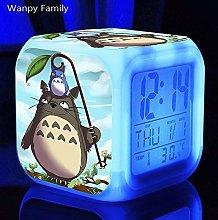 Yyoutop Cute cartoon alarm clock children LED