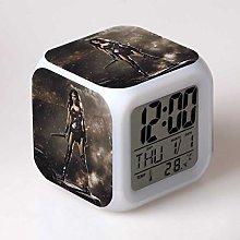 Yyoutop LED alarm clock 7 color change digital