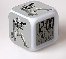 Yyoutop LED alarm clock 7 color change film