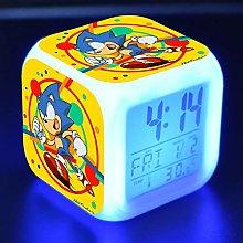 Yyoutop LED alarm clock cartoon digital alarm
