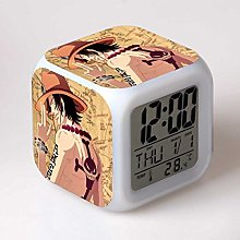 Yyoutop One piece of LED alarm clock cartoon