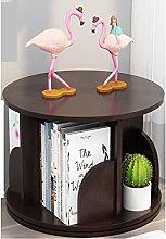 Yyqx Bookcase Bookshelf 360 Degree Rotating Simple
