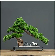 Yyqx Fake Plants Artificial Bonsai Pine Tree, 15.7