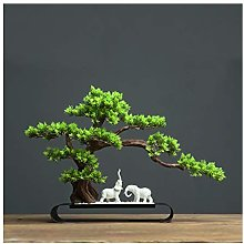 Yyqx Fake Plants Artificial Bonsai Pine Tree Desk