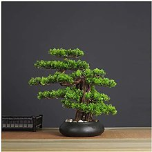 Yyqx Fake Plants Artificial Bonsai Welcoming Pine