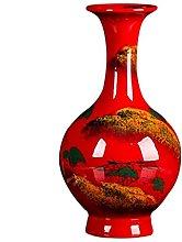 Yyqx vase Ceramic Vase 28.5cm High and 14cm Wide,