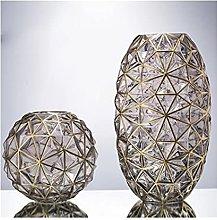 Yyqx vase Glass Vase (2 Pieces), 16.5cm 34cm High