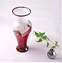Yyqx vase Glass Vase Round Mouth 30cm High Petal