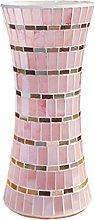 Yyqx vase Pink Glass Vase 30cm High 13cm Wide,