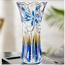 Yyqx vase Stained Glass Vase 29cm High 14cm