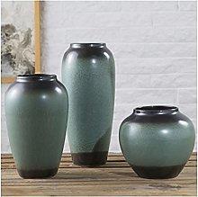 Yyqx vase Three-piece Ceramic Vase 19 27 34cm High