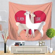 YYRAIN Nordic Polyester Cute Alpaca Tapestry Home