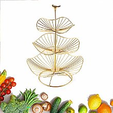 YYRZ 3 Tier Fruit Bowl Countertop Metal Fruit
