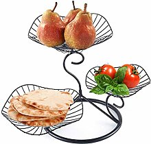 YYRZ 3 Tier Metal Fruit Basket Fruit Bowls Large