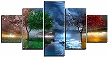 Yywife Canvas painting HD print wall art 5 pieces