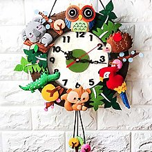yywl Alarm Clock Cartoon Animal Home DIY Wall