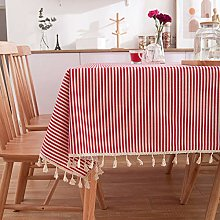 YYXDP Printed Tablecloth Blue Pastoral Cotton