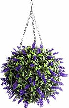 YZ Artificial Purple Lavender Hanging Topiary Ball