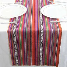 YZEO 2 Packs 14 by 108 Inch Mexican Table Runner