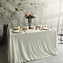 YZEO 48x72 inch White Sequin Tablecloth Sparkly