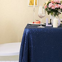 YZEO 50x50 Inch Navy Blue Square Sequin