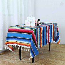 YZEO 59 * 84inch Mexican Flag Table Cover with