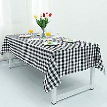 YZEO 60 by 72Inch Polyester Plaid Checker Table