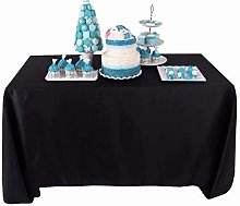 YZEO 60x102 -Inch Polyester Table Cloth Black