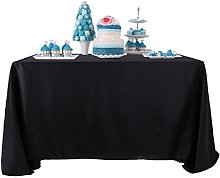 YZEO Black Kitchen Table Cover 60X120 Wedding