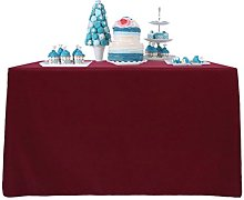 YZEO Deep Red Fibre Table Cloth 60x120inch