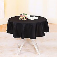 YZEO Fibre Tablecloth Black Round 50 Inch