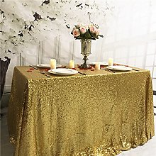 YZEO Gold Sequin Tablecloth Rectangle 60x102-Inch