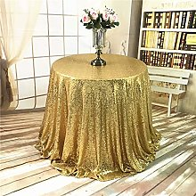 YZEO Gold Tablecloth Sequin Party Table Cover