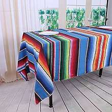 YZEO Mecican Stripes Tablecloth - 57x102inch