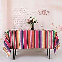 YZEO Mexican Cotton Tablecloth Rectangular -