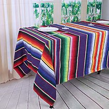 YZEO Mexican Party Tablecloth - 57x72inch Purple