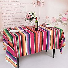 YZEO Mexican Style Tablecloth 57x102inch