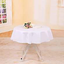 YZEO Polyester Tablecloth 50Inch Wedding