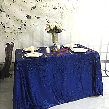 YZEO Royal Blue Sequin Tablecloth for Wedding