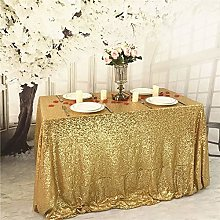 YZEO Tablecloth Gold Table Cover Sequin Fabric