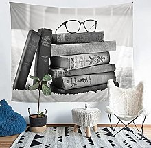 YZHEWQ Wall Tapestry Book Tapestry for Bedroom