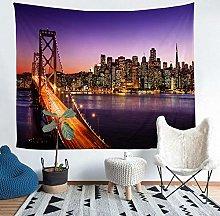 YZHEWQ Wall Tapestry Bridge Tapestry for Bedroom